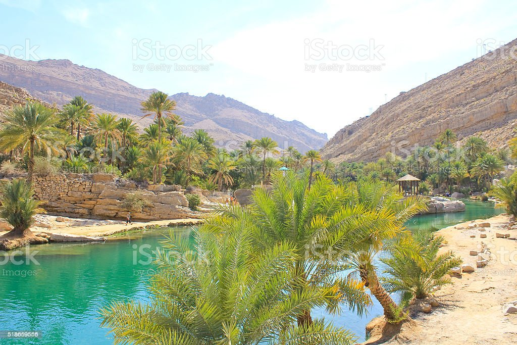 Wadi Bani Khalid, Ash Sharqiyah region, Oman stock photo