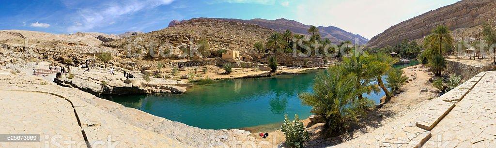 Wadi Bani Khalid, Oman stock photo