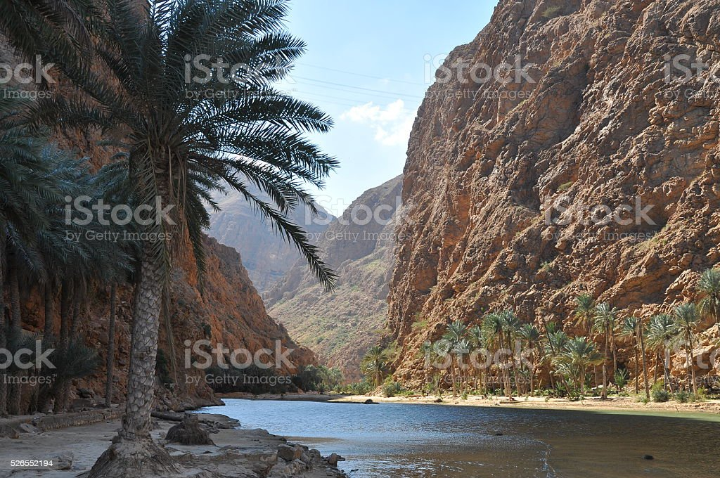 Wadi Bani Khalid, Oman stock photo