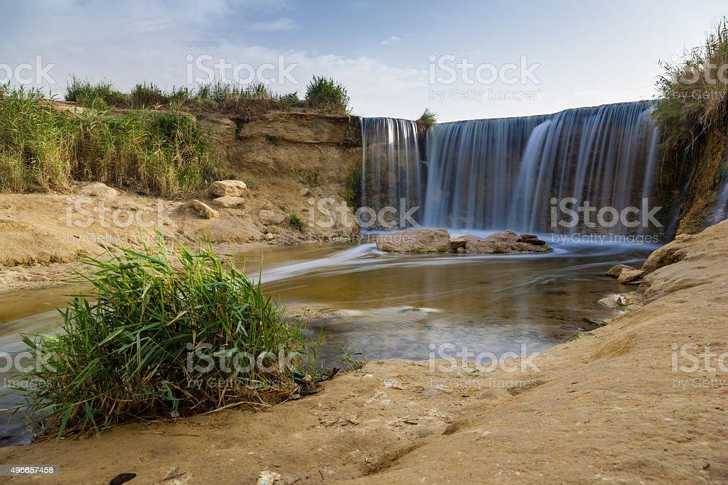 Wadi El-Rayan Waterfalls stock photo