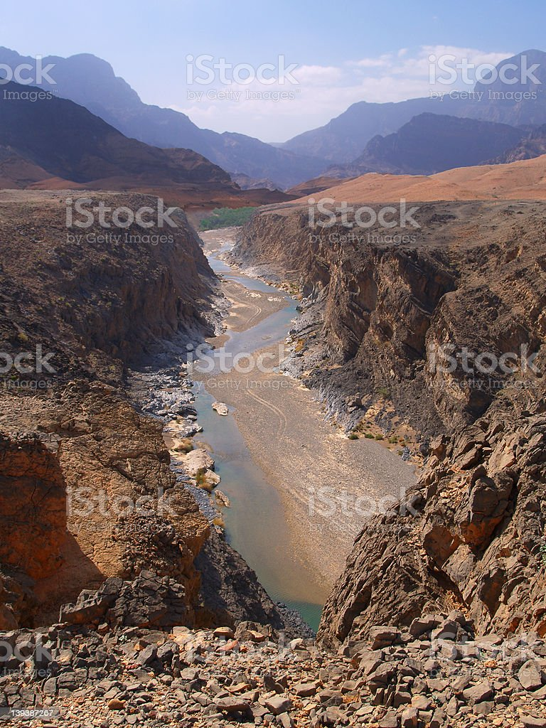 Wadi Mazari royalty-free stock photo