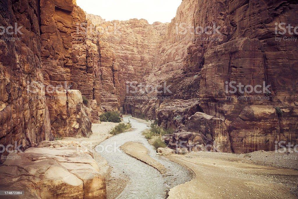 Wadi Mujib stock photo