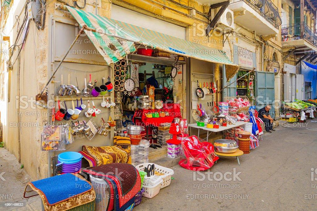 Wadi Nisnas Market, Haifa stock photo