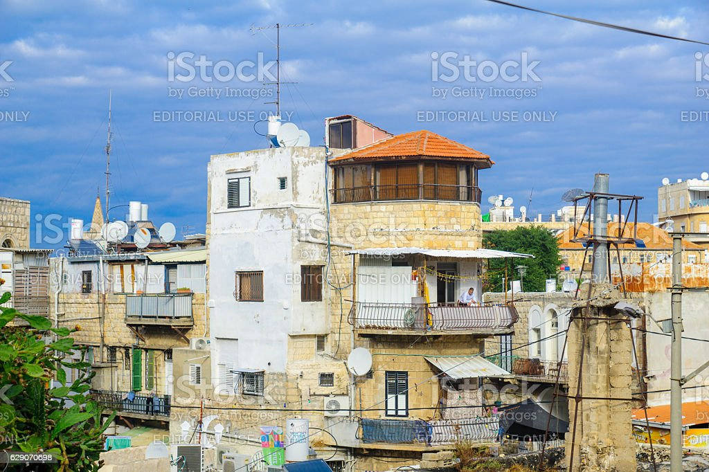 Wadi Nisnas neighborhood, in Haifa stock photo