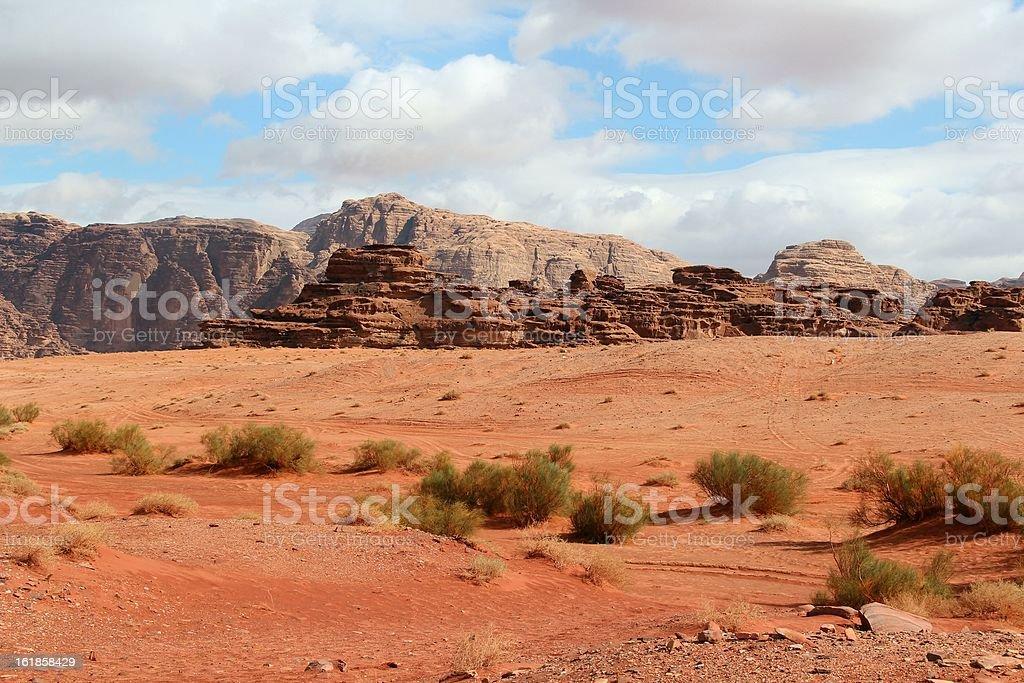 Wadi Rum desert - Jordan stock photo