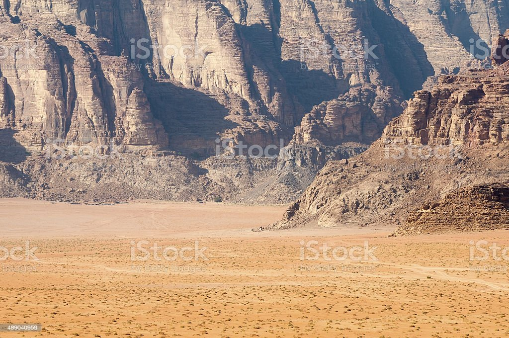 Wadi Rum desert landscape stock photo