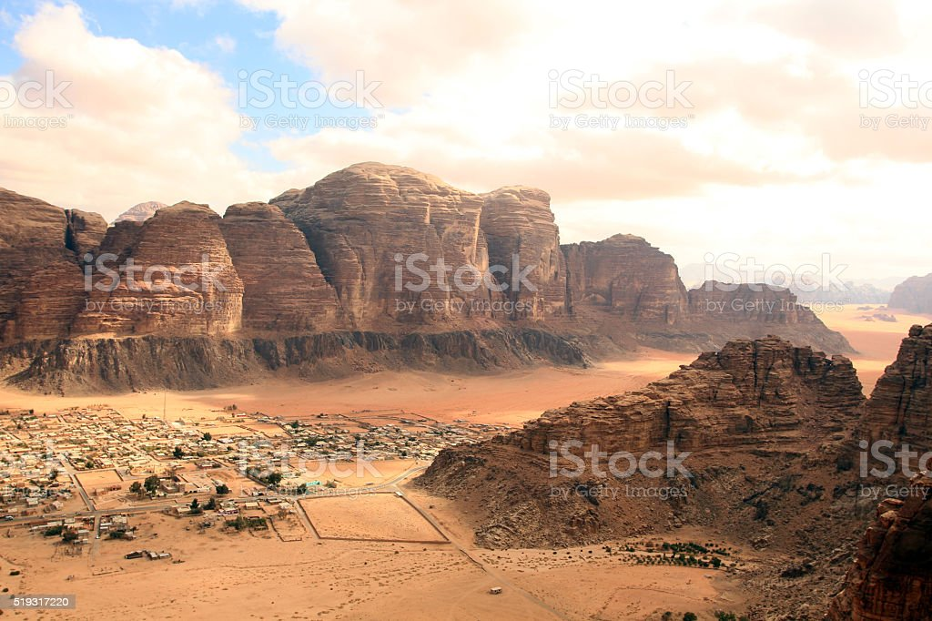 Wadi Rum desert landscape,Jordan stock photo