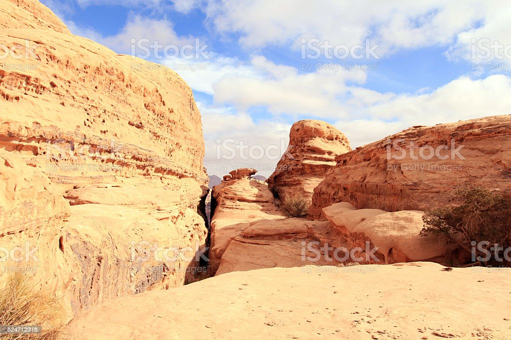 Wadi Rum desert landscape,Jordan stock photo