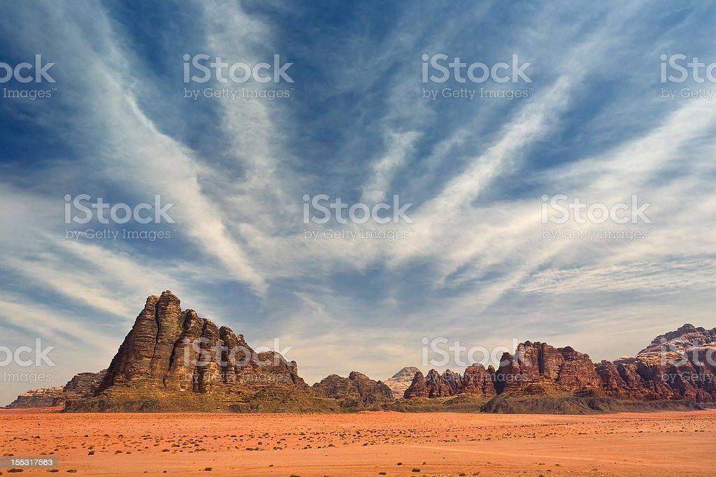 Wadi Rum desert royalty-free stock photo