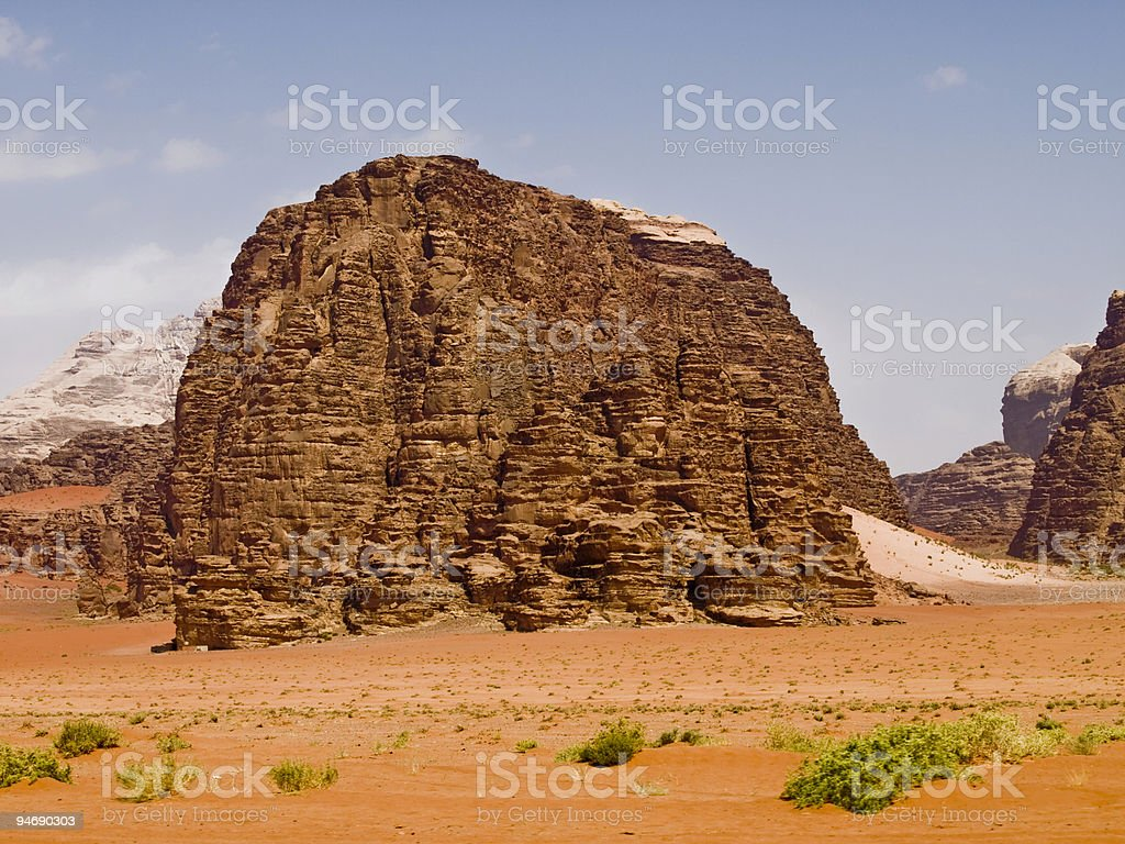 Wadi Rum desert royalty-free stock photo