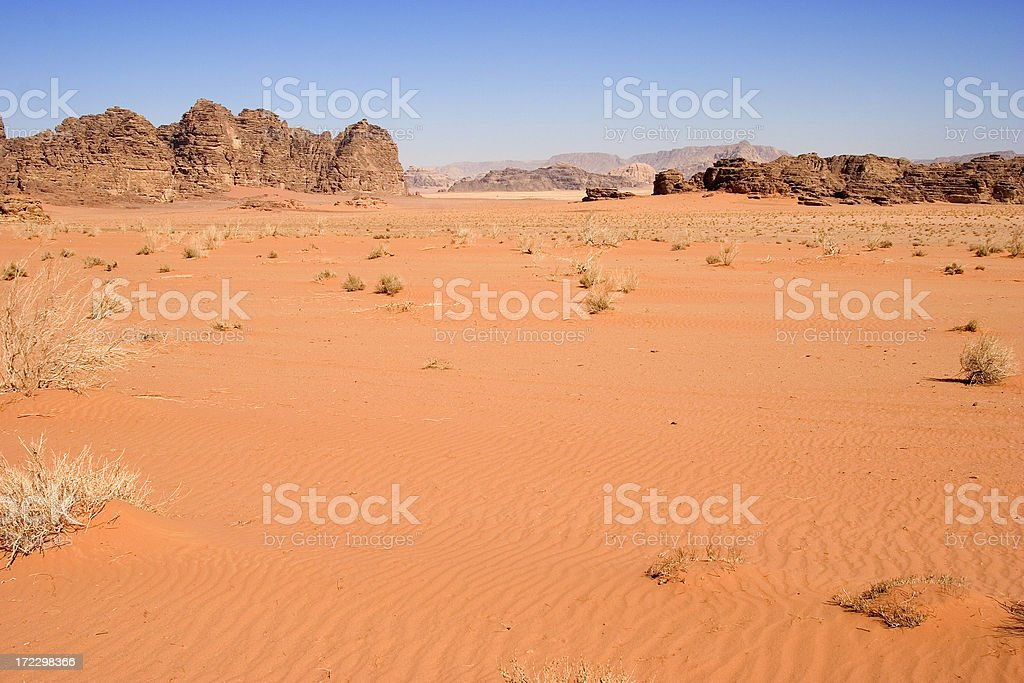 Wadi Rum, Jordan royalty-free stock photo