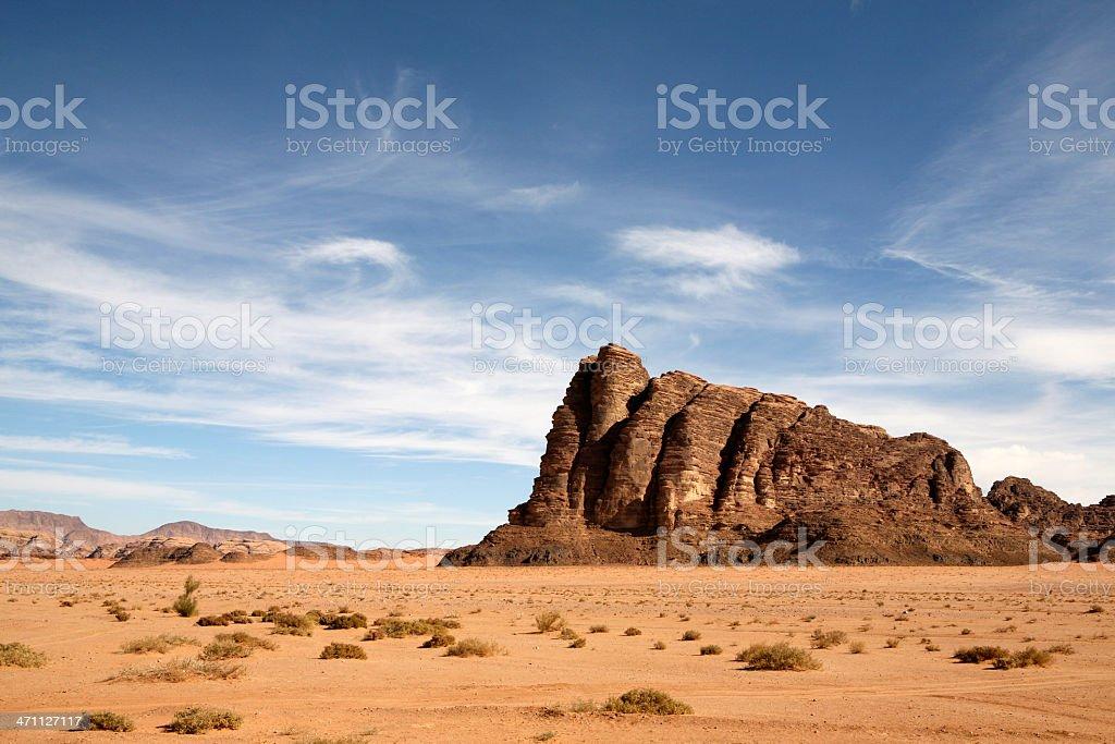 Wadi Rum Jordan royalty-free stock photo