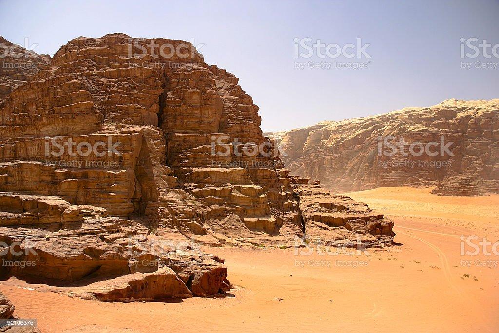Wadi Rum. Jordan royalty-free stock photo