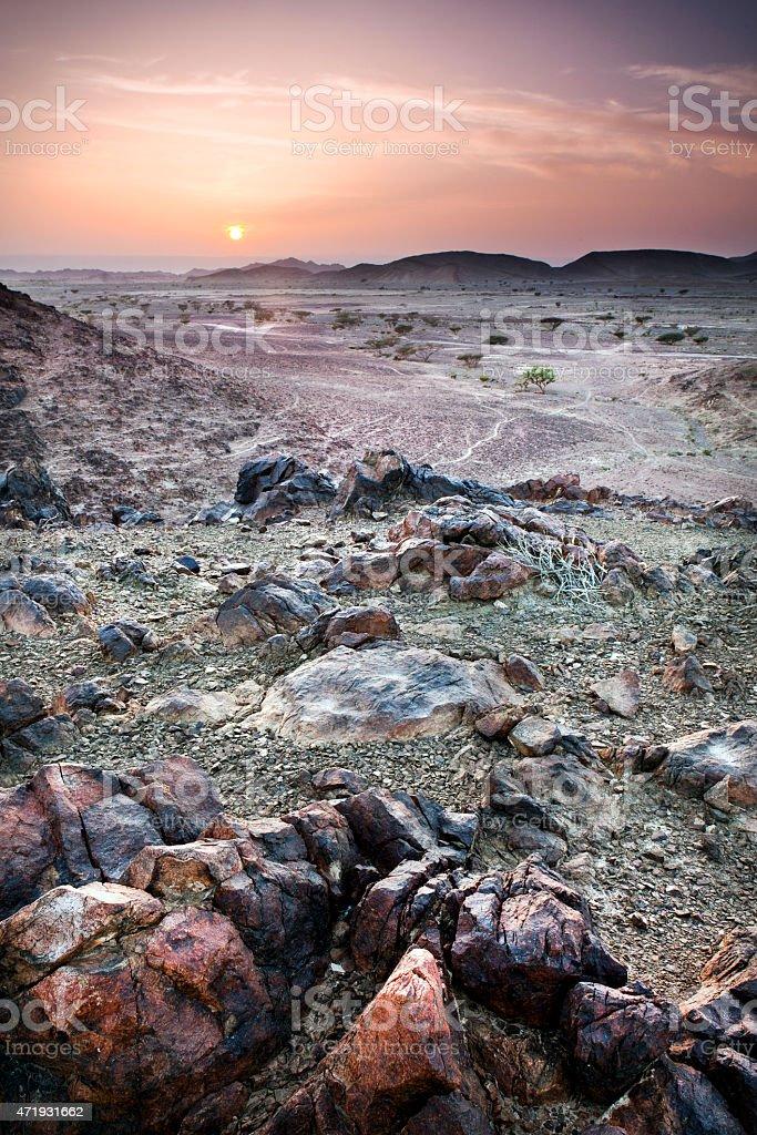 Wadi Rum Landscape stock photo