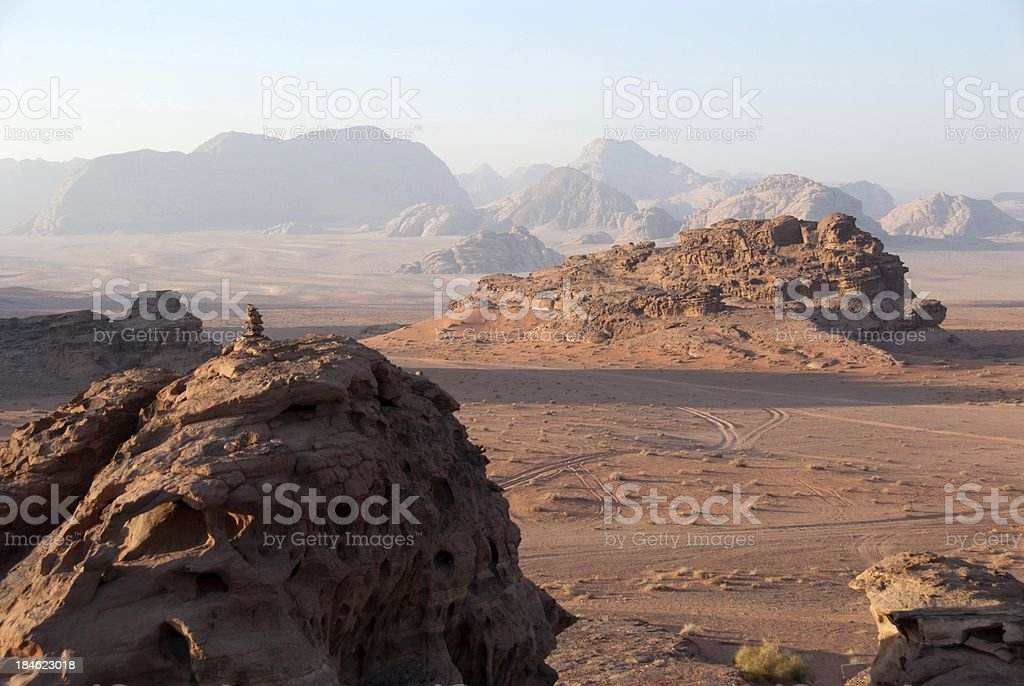 Wadi Rum Sunrise royalty-free stock photo