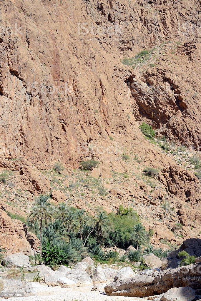 Wadi Shab, Oman stock photo