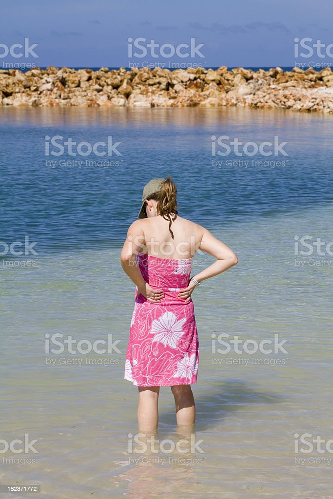 Wading in the Water royalty-free stock photo