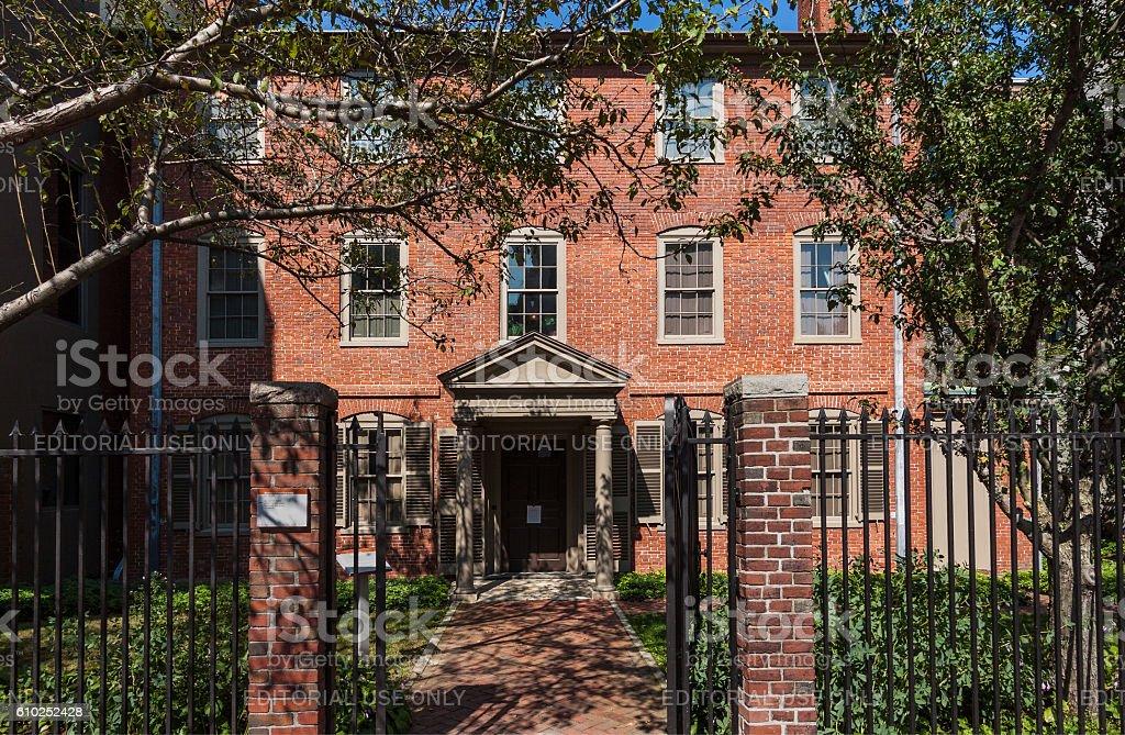Wadsworth-Longfellow House, Portland, Maine, New England, USA. stock photo
