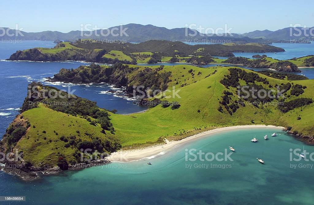 Waewaetorea Passage - Bay of Islands, New Zealand stock photo