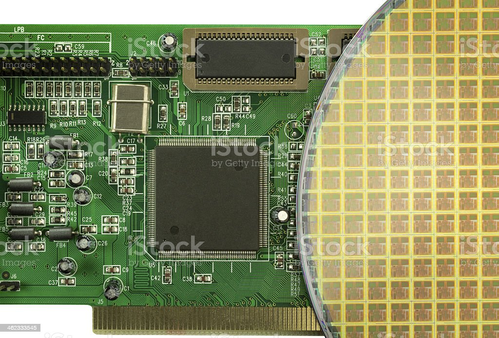 Wafer and board stock photo