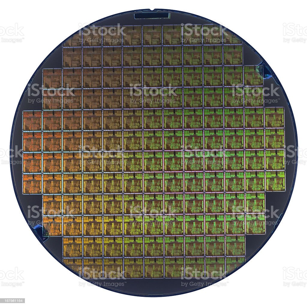 Wafer. stock photo