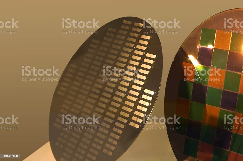Wafers in the Semiconductor Technology stock photo