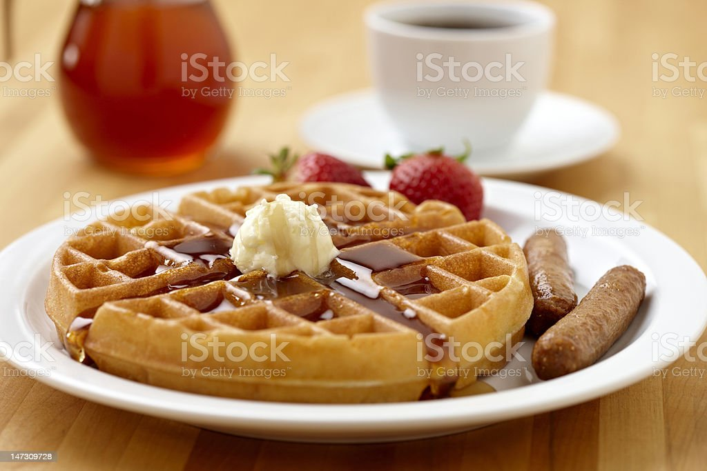 Waffle Breakfast stock photo
