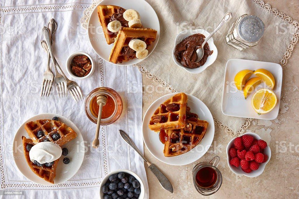 Waffle Breakfast stock photo