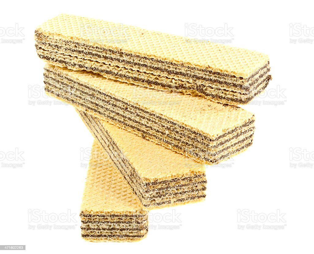 waffle cookies royalty-free stock photo