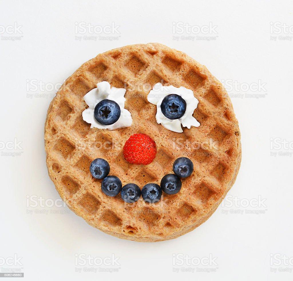 Waffle face stock photo