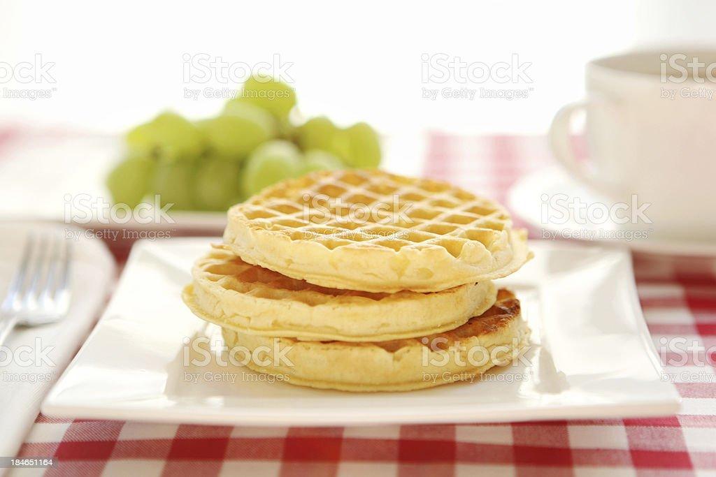 waffle for breakfast royalty-free stock photo