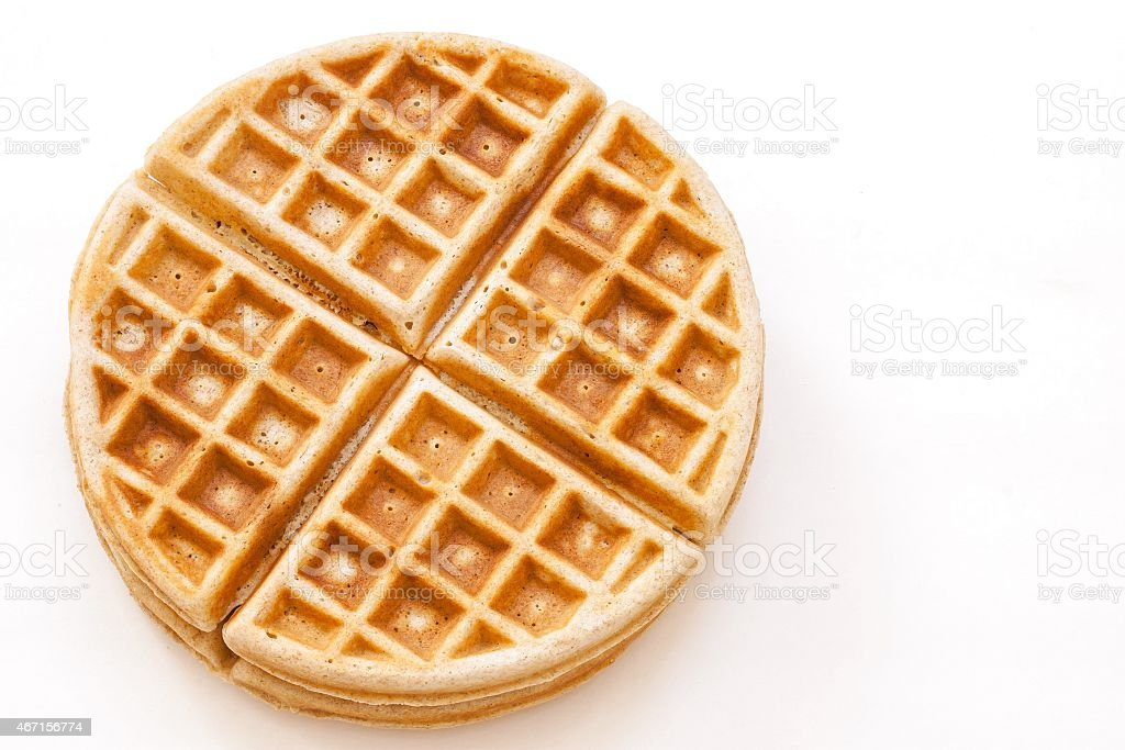 Waffle isolated on white stock photo