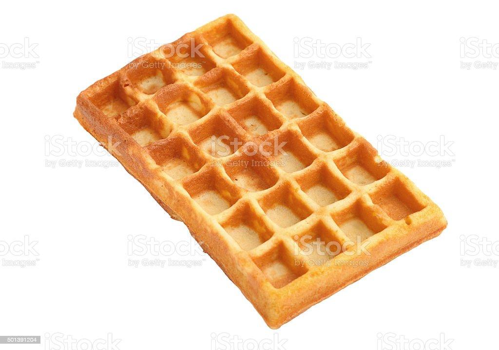 waffle on white stock photo