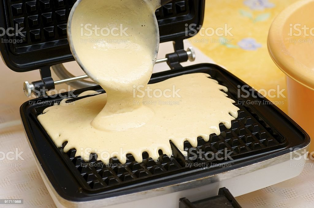 waffle pastry press stock photo
