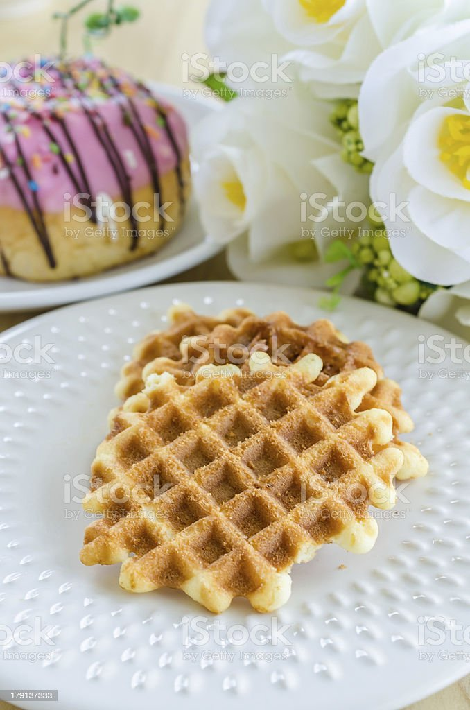Waffle royalty-free stock photo