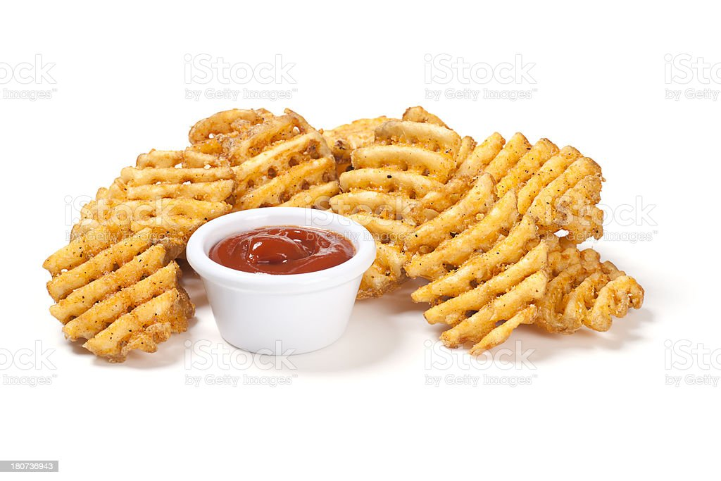 Waffle Potato Fries stock photo
