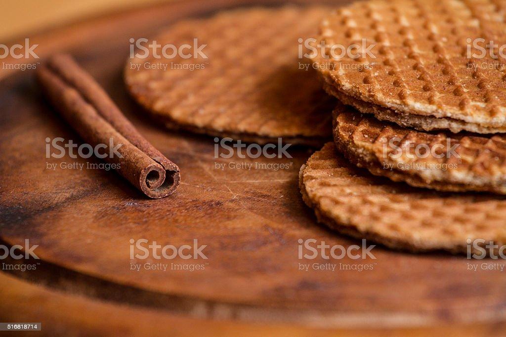 Waffle stack stock photo