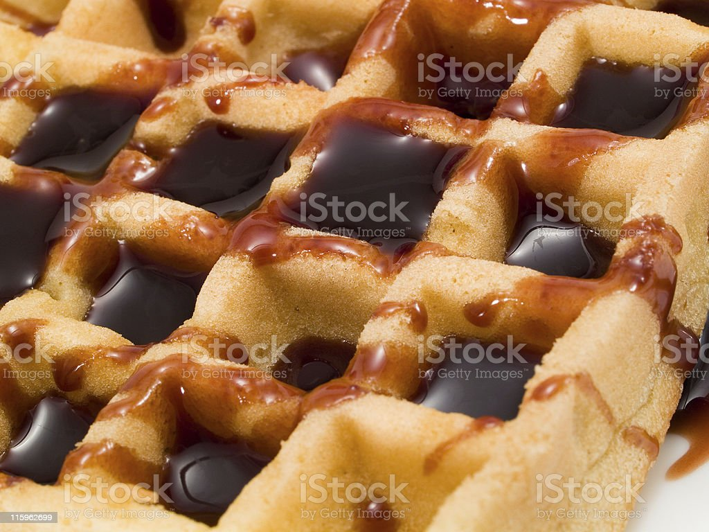 Waffle with Chocolate royalty-free stock photo