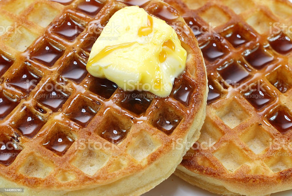 Waffles and Syrup royalty-free stock photo
