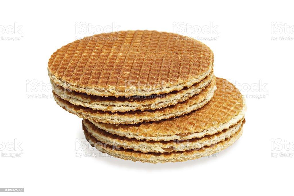 waffles isolated on white royalty-free stock photo