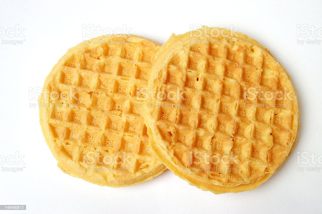 Waffles isolated on white. royalty-free stock photo