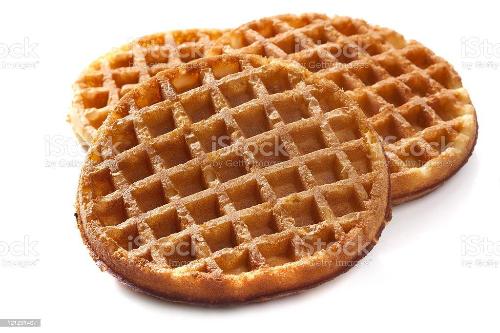 Waffles on White stock photo