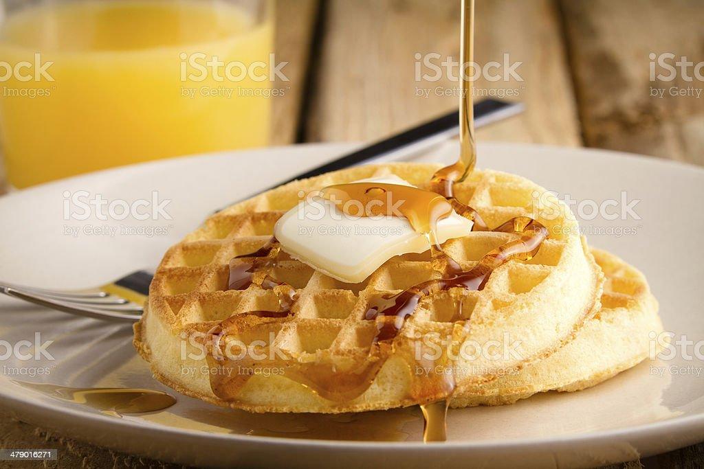 Waffles stock photo