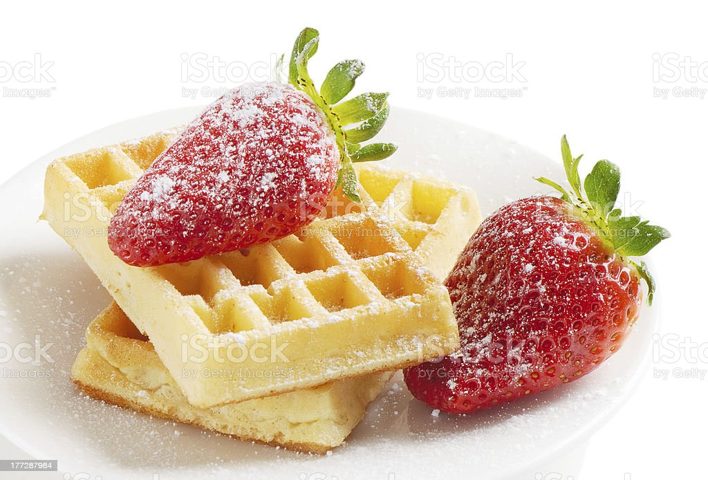 waffles with berries royalty-free stock photo