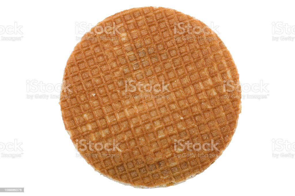 waffles with caramel on white stock photo