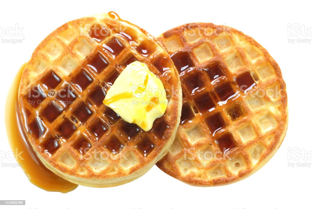 Waffles with Syrup stock photo