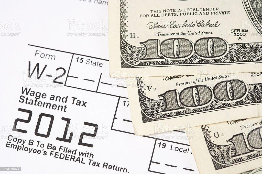 Wage and Income Tax Prepatration stock photo