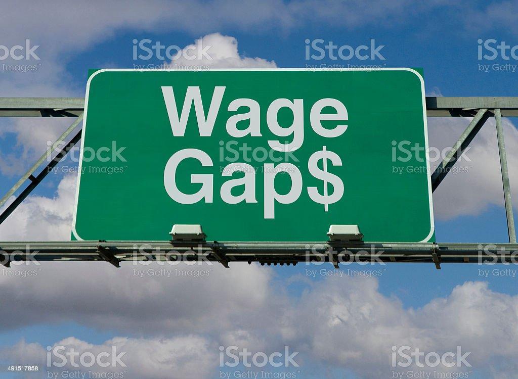 Wage Gaps stock photo