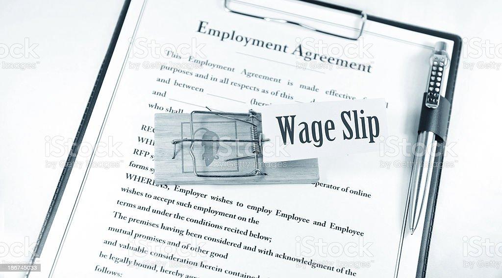 Wage slip royalty-free stock photo