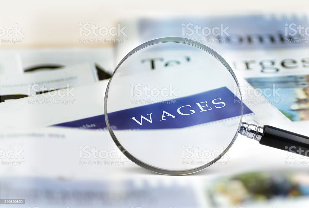 Wages stock photo
